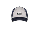 White and Navy Baseball Cap - Unisex