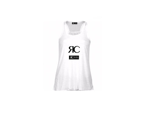 White Racerback Tank Top - RC