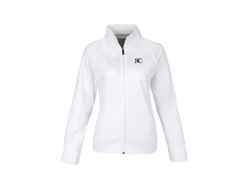 White Zipper Front Jacket - The Palm Springs
