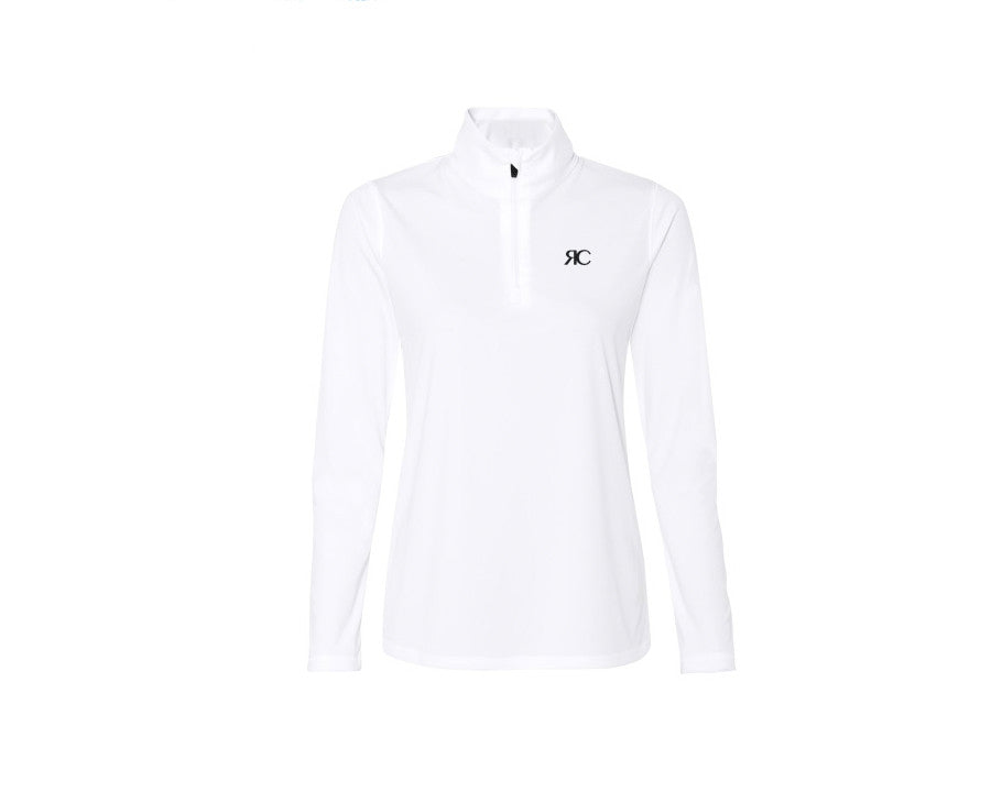 White Zipper Front Pullover Jacket - The Aspen
