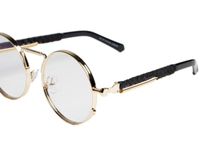 2-Tone Gold Python Glasses (Clear Lense)