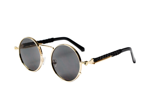 2-Tone Gold Python Glasses (Black Lense)