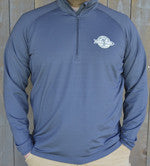 ON SALE! Men's Quarter Zip Performance Shirt: Long Sleeve: Charcoal Gray