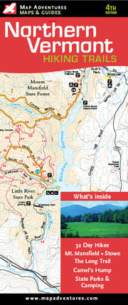 Northern Vermont Hiking Trails Map