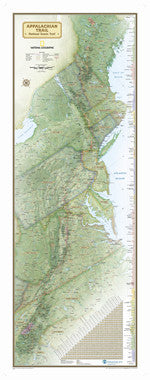 Appalachian Trail Wall Map Poster