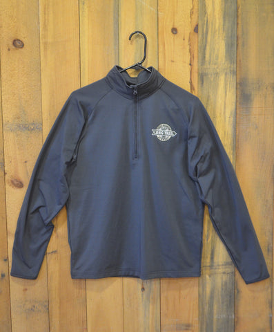 Men's Quarter Zip Performance Shirt: Long Sleeve: Charcoal Gray