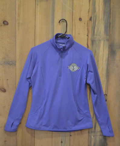 Women's Quarter Zip Performance Shirt: Long Sleeve: Iris