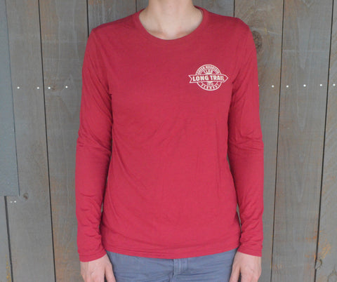 SALE! Women's Long Trail Performance Long Sleeve Shirt: Cardinal Red