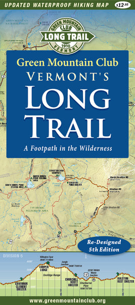 Vermont's Long Trail Map 5th Edition: Waterproof on orienteering map, hiking tours, hiking trail, following a map, trail map, hunting map, space exploration map, hiking tracks, nature map, places to go map, hiking tips,