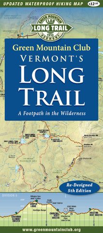 Vermont's Long Trail Map 5th Edition: Waterproof