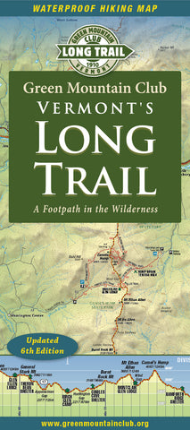 NEW! Long Trail Map 6th Edition
