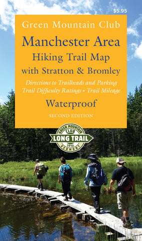 Manchester Area Hiking Trail Map with Stratton and Bromley