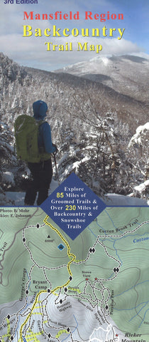 Mount Mansfield Region NORDIC SKI & SNOWSHOE Trail Map: Waterproof