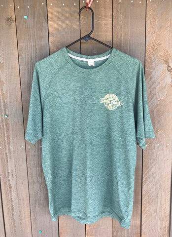 Men's Long Trail Performance T-shirt: Forest Green Heather