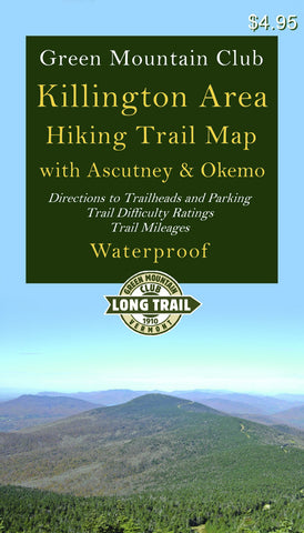 Killington Area Hiking Trail Map with Ascutney & Okemo: Waterproof