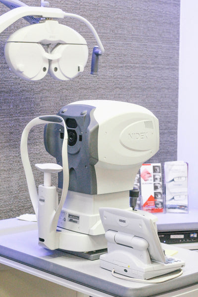 Auto Refraction and corneal measurements are taken at EYESPOT Chestnut Hill Newton