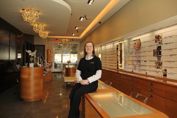 managing optician melanie cabral at EYESPOT OPTICAL