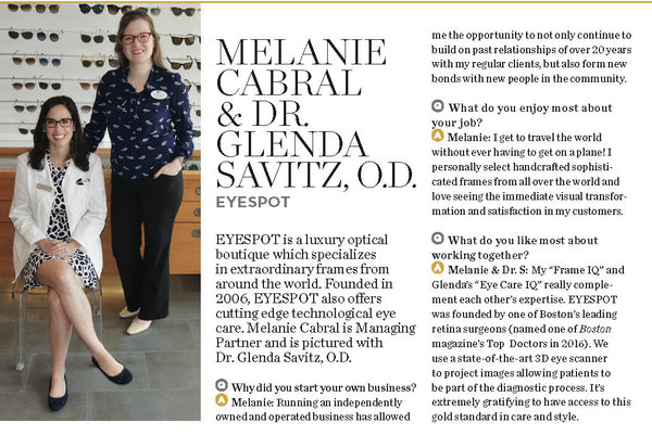 Boston Magazine Women in Business Melanie Cabral and Glenda Savitz