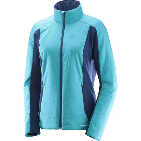 Salomon Drifter Mid Women's Backcountry Primaloft Puffy Jacket - Blue
