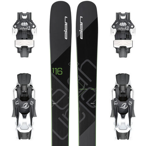 Elan Ripstick 116 Powder Ski + Attack 13 DT Binding - Gently Used 2018