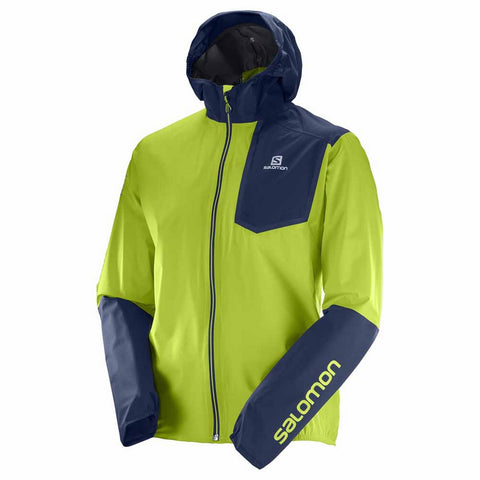 Salomon Bonatti Pro WP Jacket - Men's Ultralight Running Hiking Shell - Lime