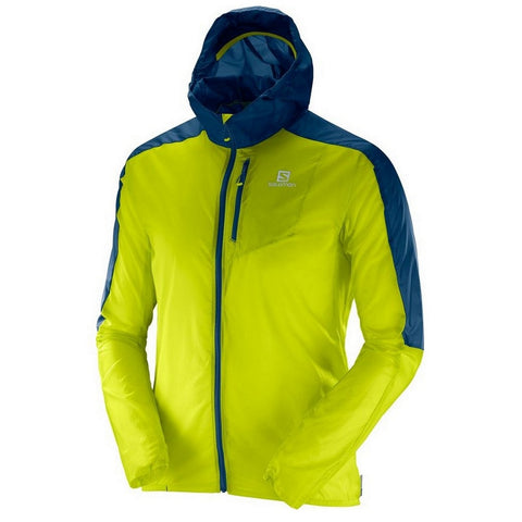 Salomon Fast Wing Hoodie Ultralight Wind Shell Running Jacket - Red