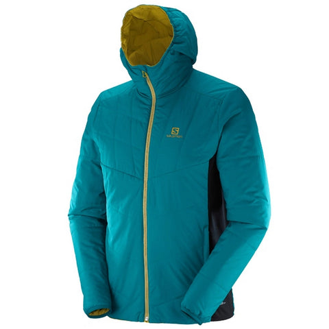 Salomon Drifter Mid Hoodie Men's Primaloft Puffy Jacket - Reversible / Bluesteel