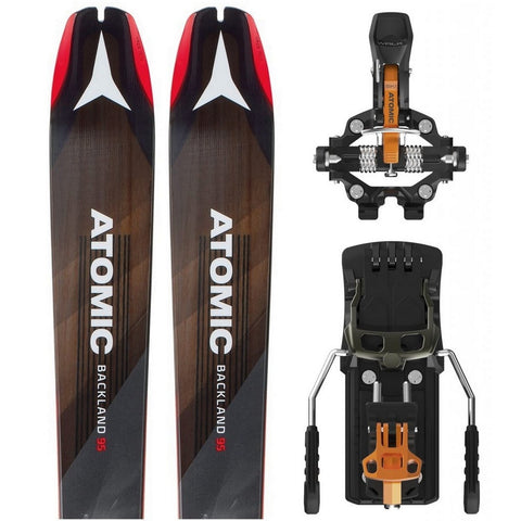 Atomic Backland 95 Touring Ski + Backland Tour Tech Binding - Gently Used 2018
