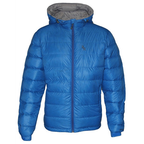 Brooks Range Mountaineering Mohave Down Jacket Men's Hooded Parka - Blue
