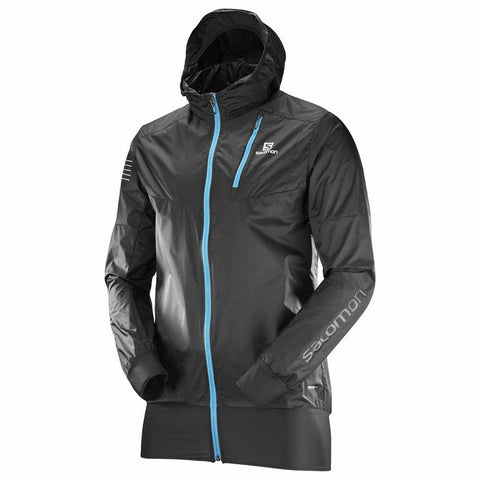 Salomon Fast Wing Hybrid Ultralight Hooded Shell Running Jacket - Black