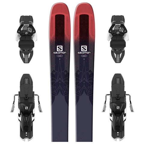 Salomon QST 106 Stella Women's Freeride Ski + Warden 13 DT Binding