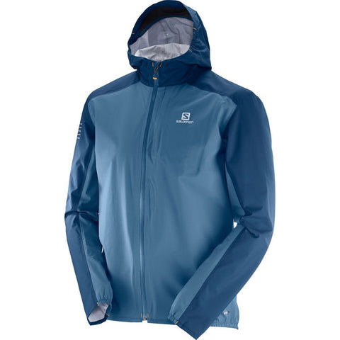 Salomon Bonatti WP Jacket - Men's Ultralight Running Hiking Shell - Indigo