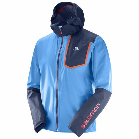 Salomon Bonatti Pro WP Jacket - Men's Ultralight Running Hiking Shell - Blue