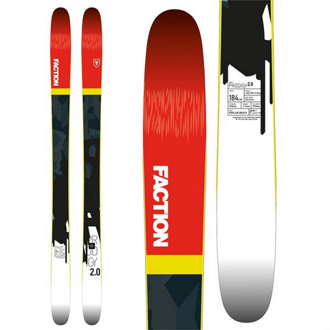 Faction Prodigy 2.0 Men's Rockered All-Mountain Ski - New 2018