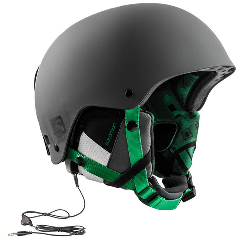 Salomon Brigade Audio-Ready Ski/Snowboard Helmet - Grey/Green