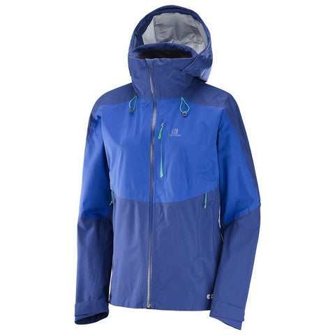 Salomon One & Only Jacket Women's Hooded Pertex Hardshell - Blue