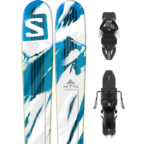 Salomon MTN Explore 95 Ski + Warden 13 DT Binding - Gently Used 2017