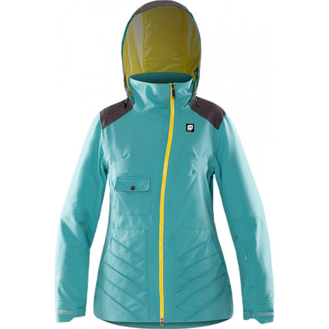 Orage Kaza Women's Insulated Ski Jacket - Light Lagoon