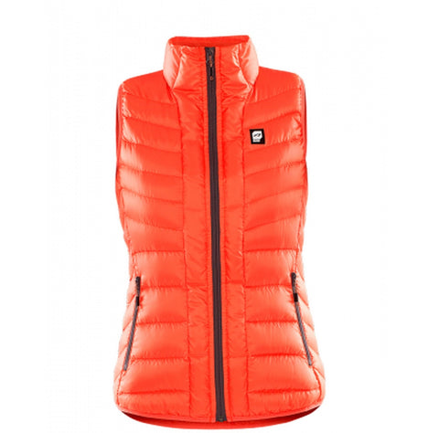 Orage Link Women's Down Vest - Guava / Small