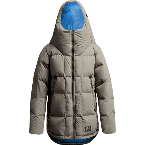Orage Parkatype Men's Down Jacket - Fog Grey / Large