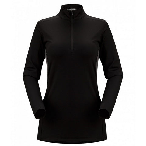 Arc'teryx Phase AR Women's Zip Neck LS Top - Black