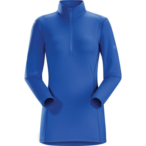 Arc'teryx Phase AR Women's Zip Neck LS Top - Azulene