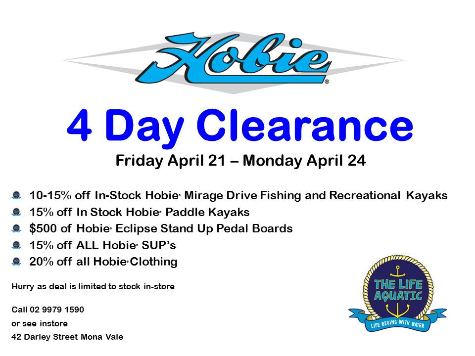 4 Day Hobie Sale