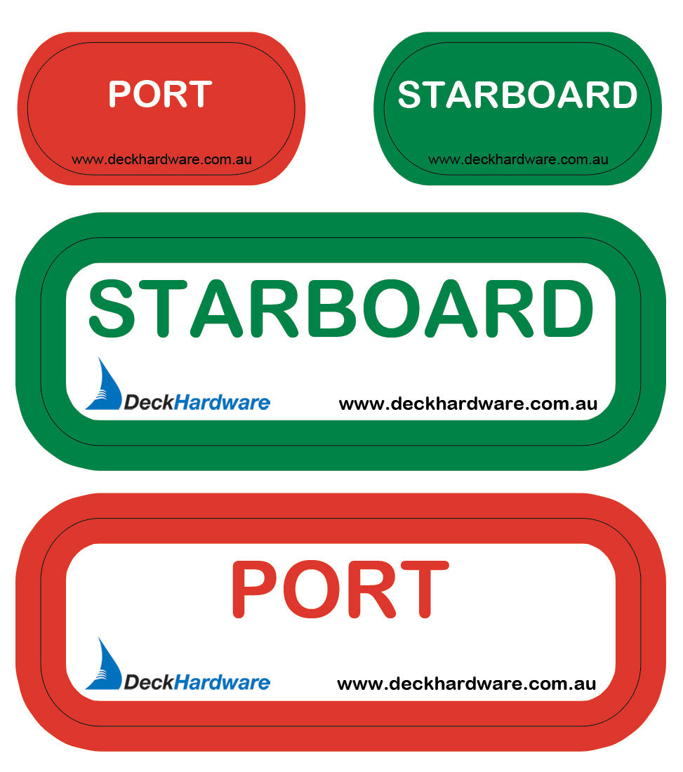Port and Starboard Stickers