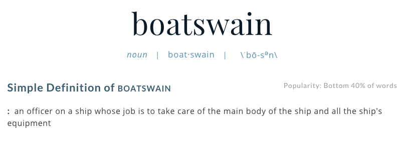 What Is a Bosun, Anyway?