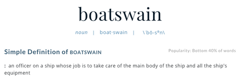 Definition of Boatswain, Merriam-Webster