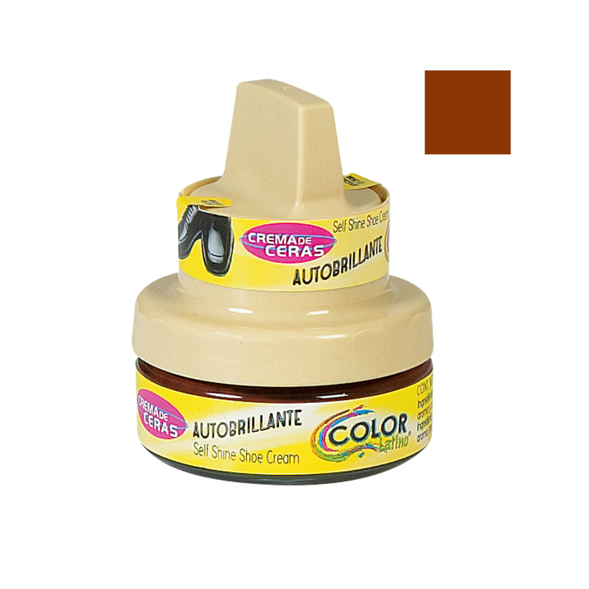 CREMA AUTOBRILLANTE 50 ml COLOR: MARRON