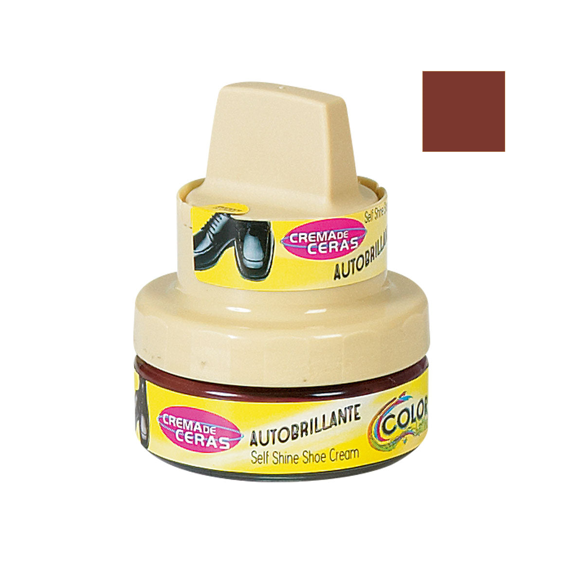 CREMA AUTOBRILLANTE 50 ml COLOR: CAFE / BROWN