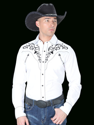 "Camisa Vaquera Bordada Color blanco  ""Western Embroidery Design White Shirt"""