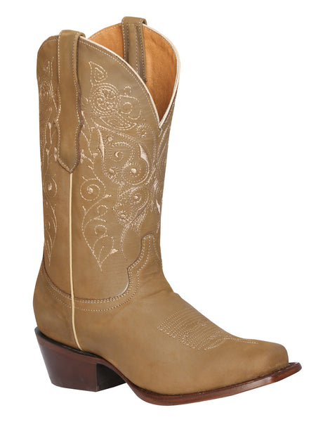 Sand squared toe cowgirl boots